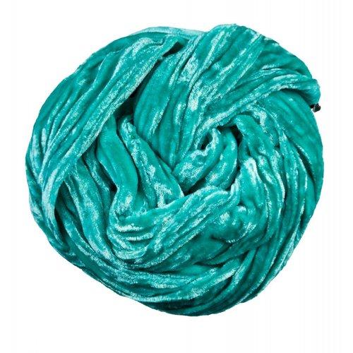 Lady Crow Silks Jade silk  Double Velvet scarf 075