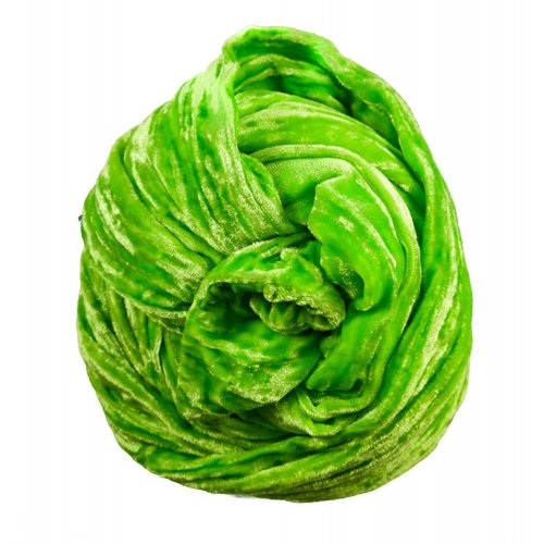 Lady Crow Silks Lime Double Velvet scarf