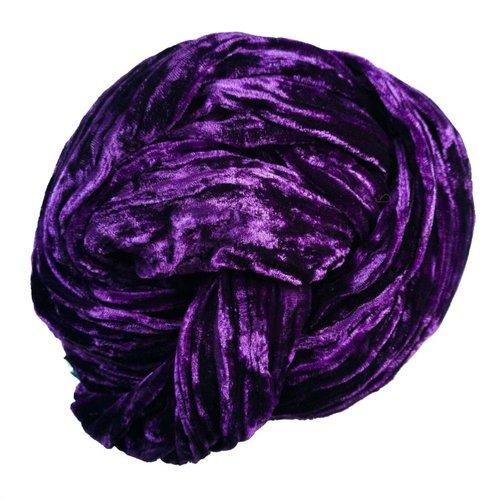 Lady Crow Silks Plumb Silk Double Velvet scarf 068