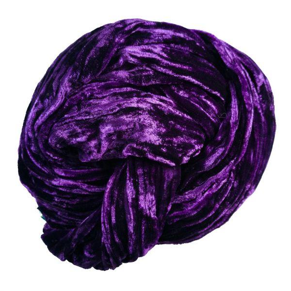 Plumb Silk Double Velvet scarf