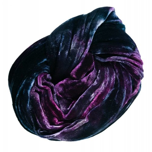 Lady Crow Silks Storm multi dyed Double Velvet scarf