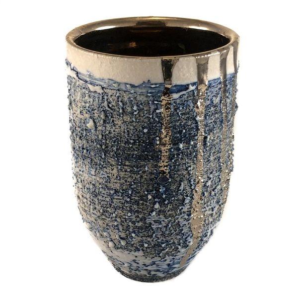 Jarrón con textura en forma de brillo de platino