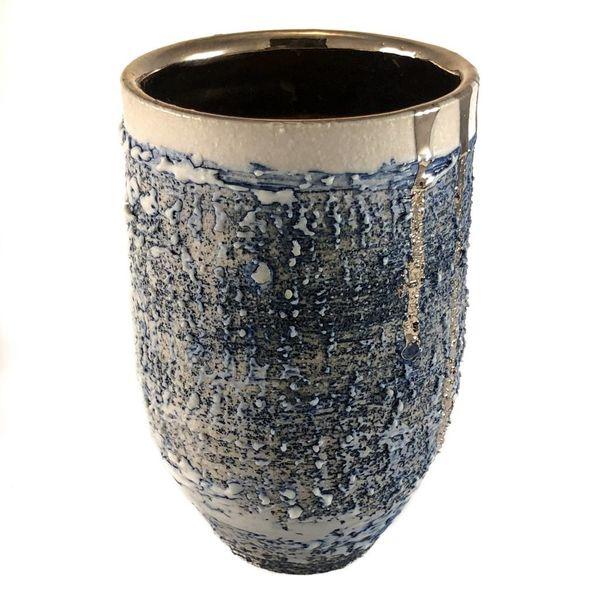 Strukturierter Vasenform Platinglanz