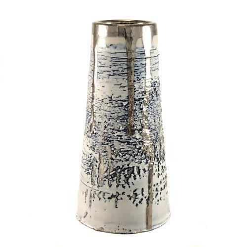 Alex McCarthy Textured conical form platinum lustre