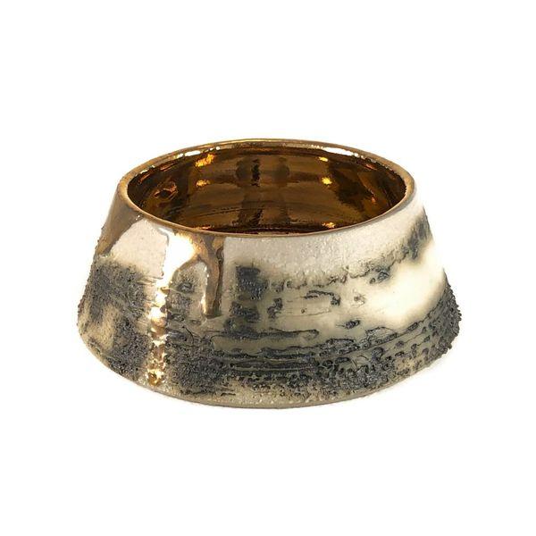 Strukturierter Tellerform-Goldglanz