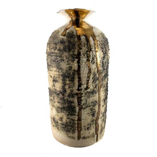 Strukturierter hoher Vasenform-Goldglanz