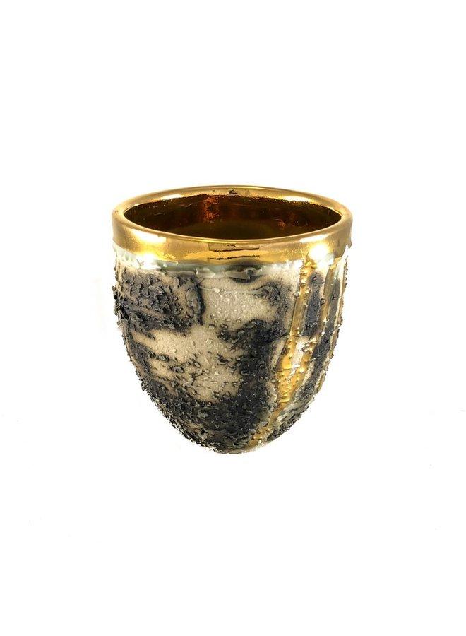Copy of Textured vase form platinum lustre