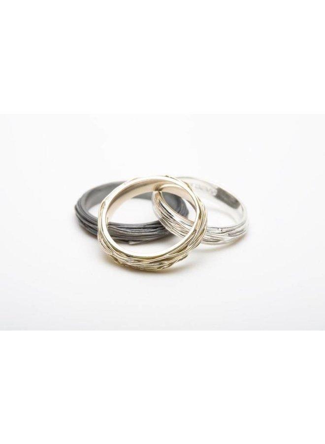 Thin wrap silver ring