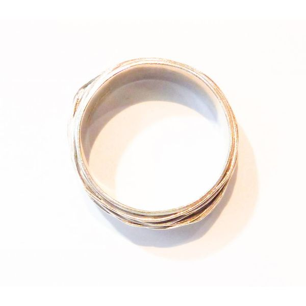 Thin wrap silver ring