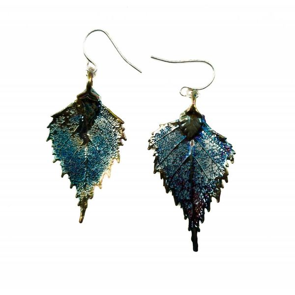 Dark rainbow  Birch Earring