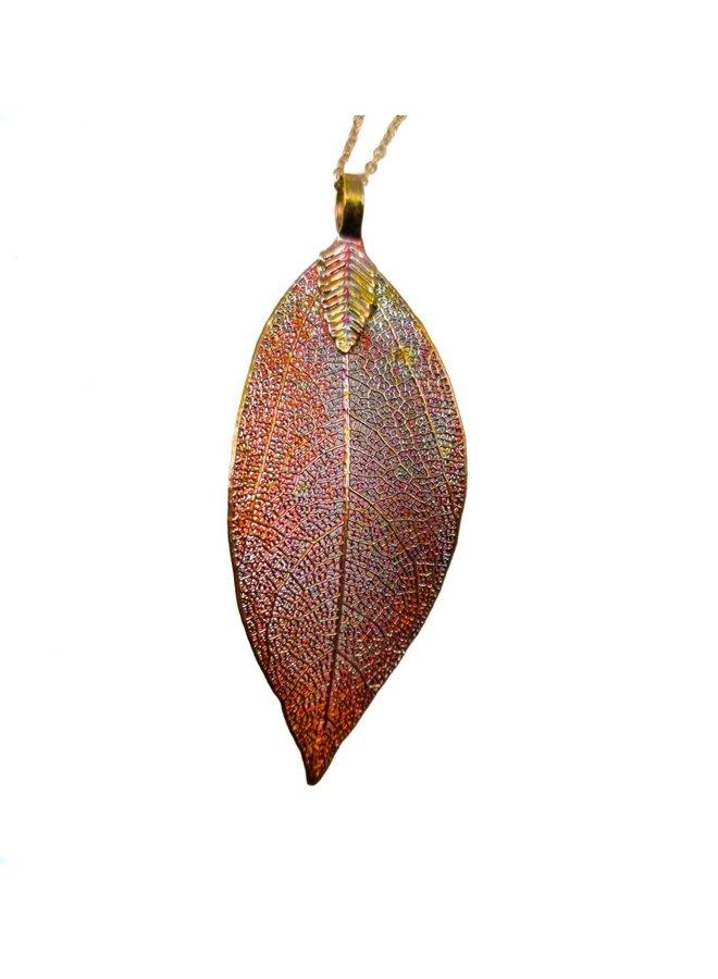 Copper  Magnolia Pendant