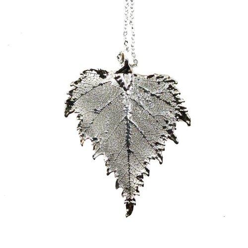 Roxburgh Natural Birch Silver Pendant