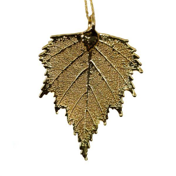 Silver Birch pendant gold