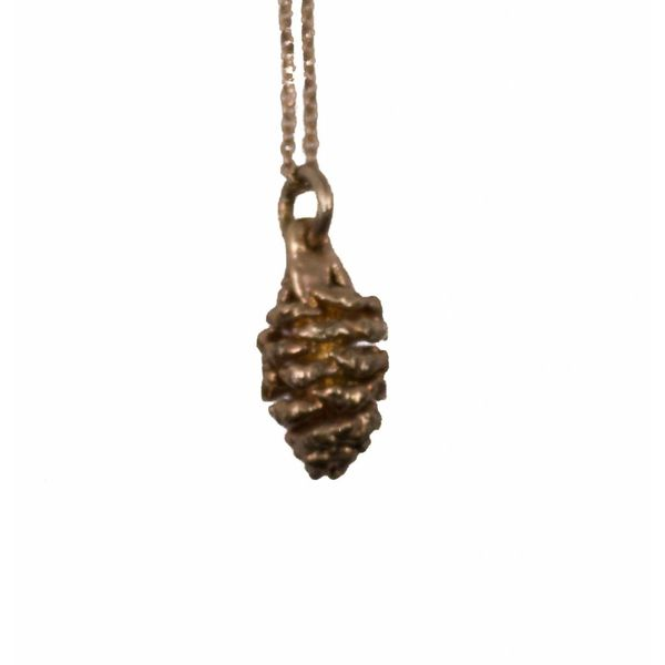Pine Cone gold pendant