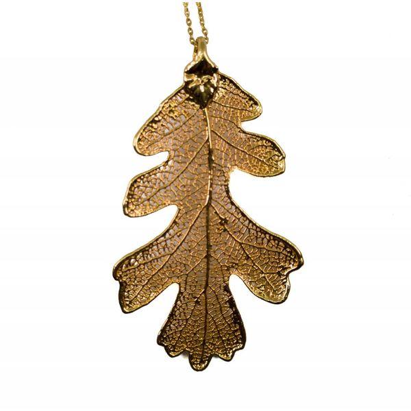 Oak Gold leaf pendant
