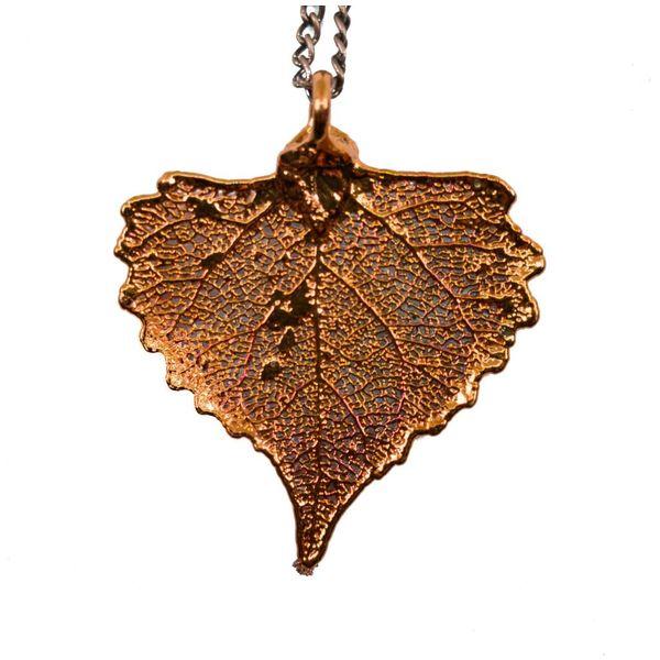 Cottonwood copper leaf pendant
