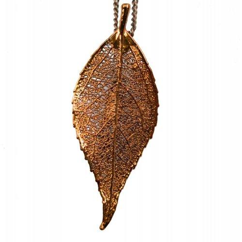 Forever Leaves Evergreen copper leaf pendant