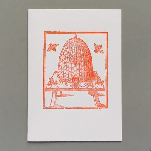 Keyhole Collection Hive hand crafted letterpress card