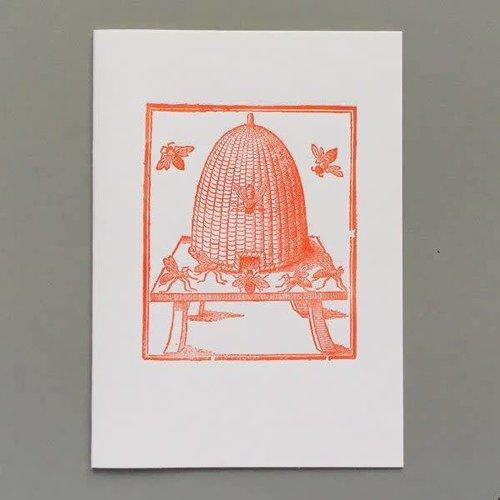 Keyhole Collection Tarjeta de tipografía hecha a mano de la colmena