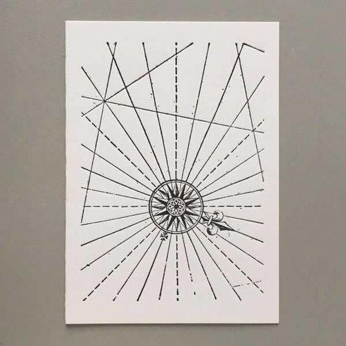 Keyhole Collection Compas tarjeta de tipografía hecha a mano