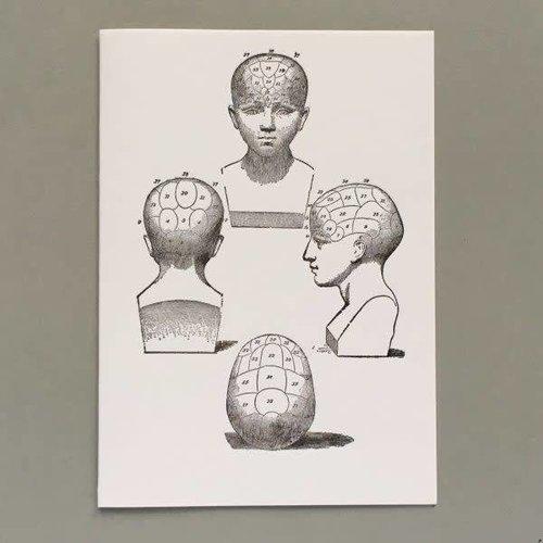 Keyhole Collection La frenología encabeza la tarjeta de tipografía hecha a mano