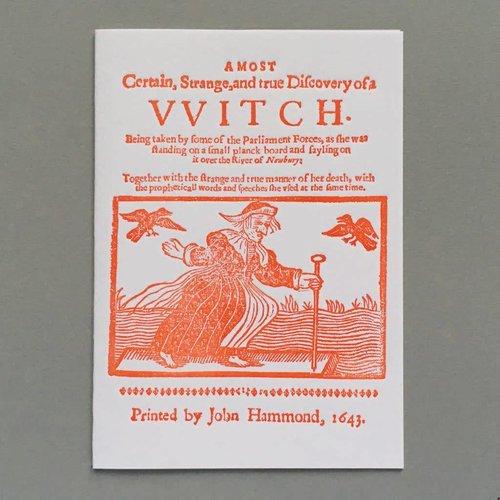 Keyhole Collection Handgefertigte Buchdruck-Karte der Hexe