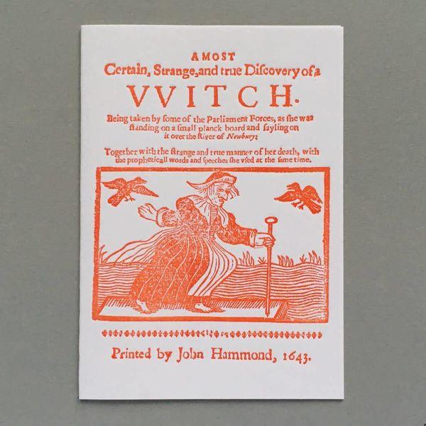 Handgefertigte Buchdruck-Karte der Hexe