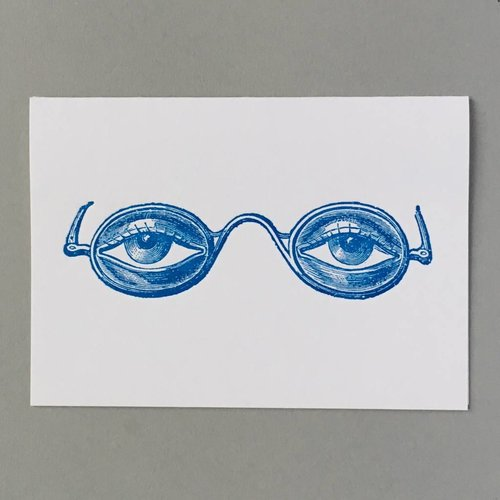 Keyhole Collection Orthoscopic specs  hand crafted letterpress card