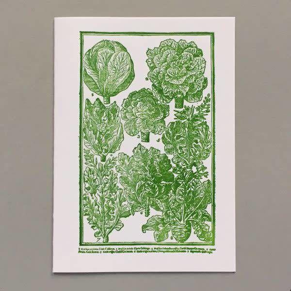 Kohlköpfe so schön wie Rosen handgefertigte Buchdruck-Karte