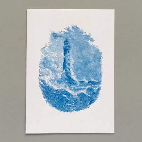 Keyhole Collection Bell Rock Lighthouse hand crafted letterpress card