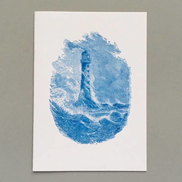 Bell Rock Lighthouse hand crafted letterpress card