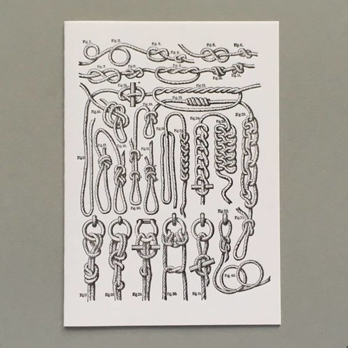 Keyhole Collection Knots hand crafted letterpress card
