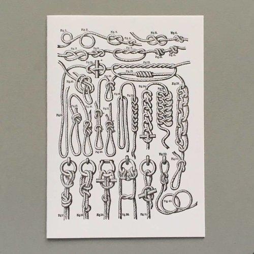 Keyhole Collection Nudos tarjeta de tipografía hecha a mano