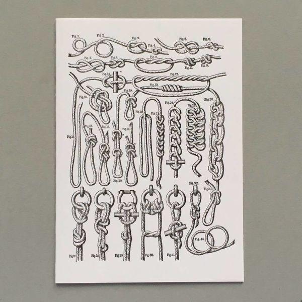Knoten handgefertigte Buchdruck-Karte
