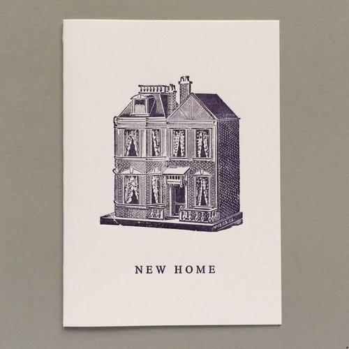 Keyhole Collection New Home, Dolls House hand crafted letterpress card