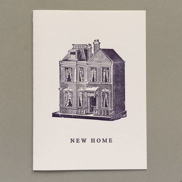New Home, Dolls House hand crafted letterpress card