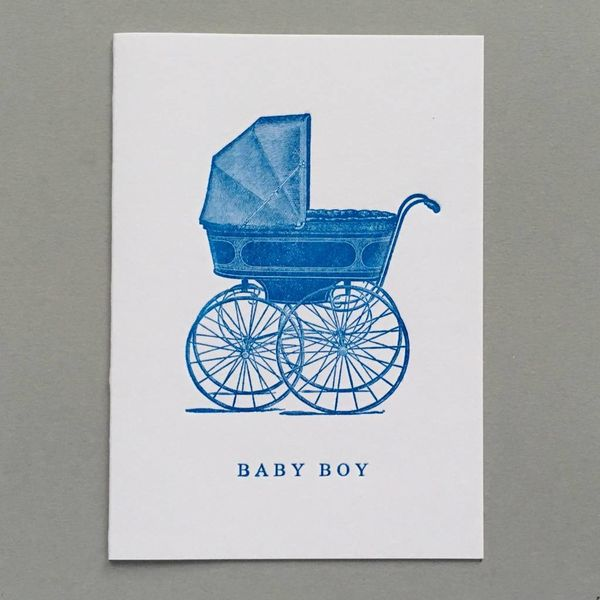 Pram New Baby tarjeta hecha a mano