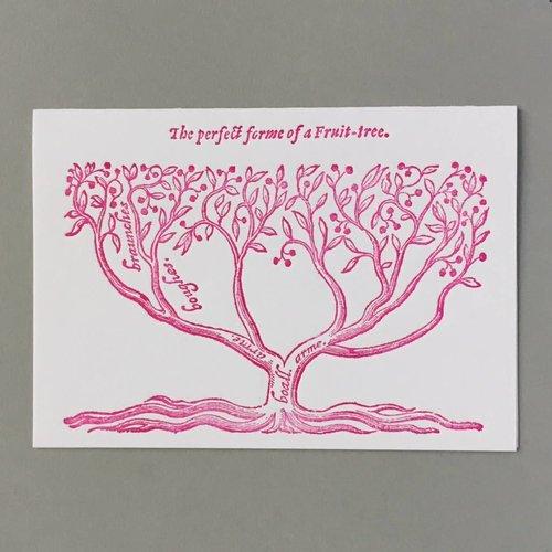 Keyhole Collection Fruit Tree Hand gestaltete Buchdruck-Karte