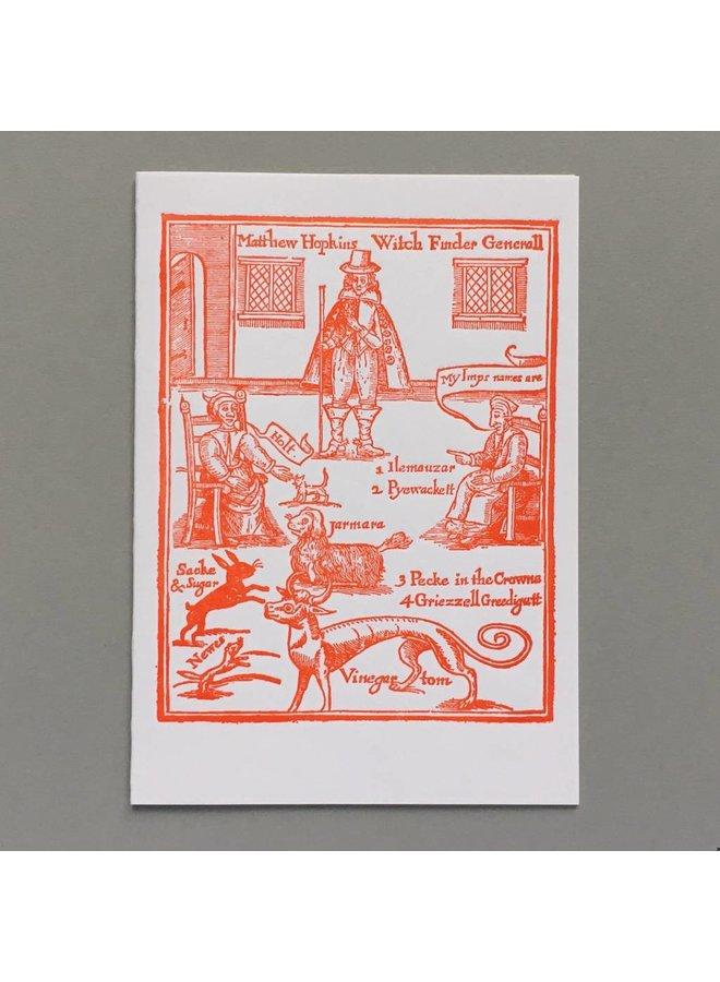 Hexenfinder General Hopkins handgemachte Karte