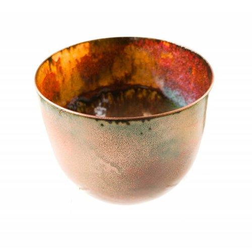 Pat Johnson Tazón de cobre esmaltado 127