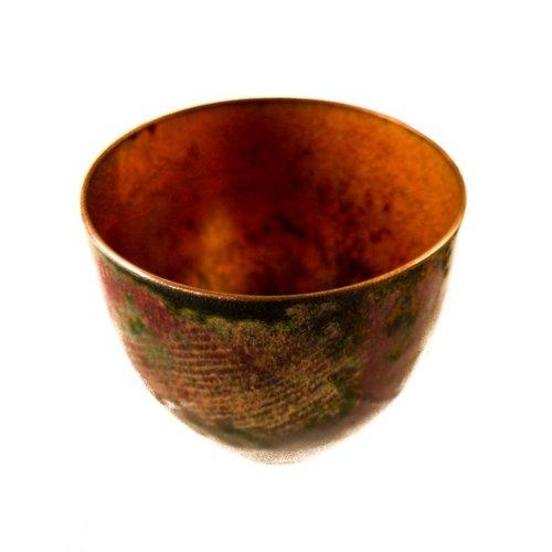 Pat Johnson Tazón de cobre esmaltado 146
