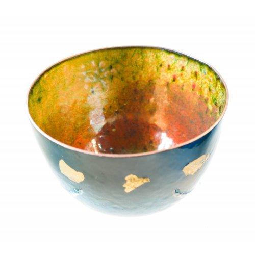 Pat Johnson Enamelled Copper Bowl 152