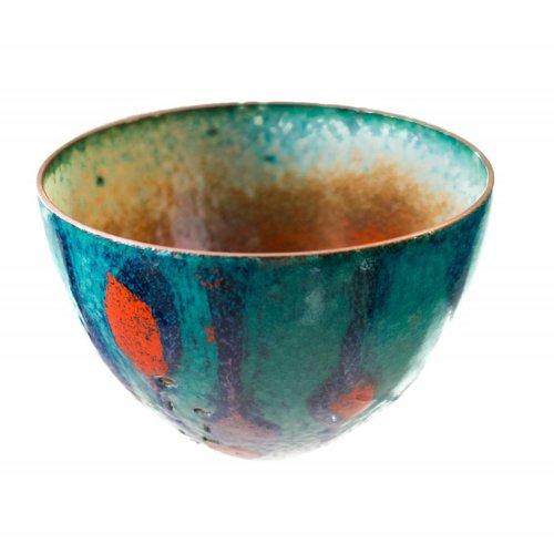 Pat Johnson Tazón de cobre esmaltado 151