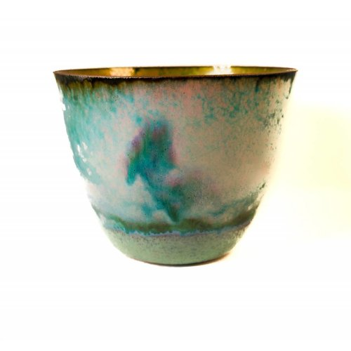 Pat Johnson Tazón de cobre esmaltado 156