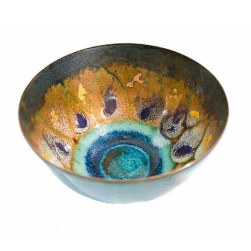 Pat Johnson Tazón de cobre esmaltado 159