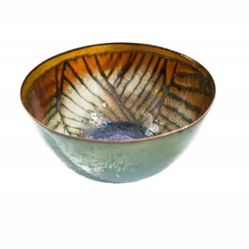 Pat Johnson Enamelled Copper Bowl 161