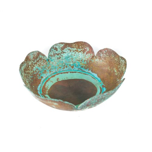 Stephanie Hopkins Etched copper bowl 26