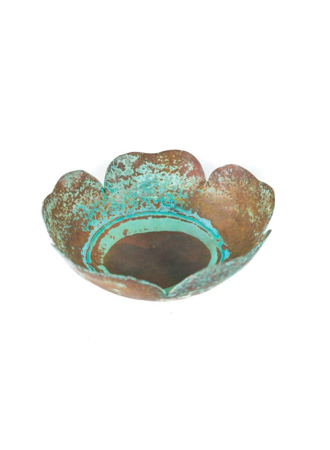 Etched copper bowl 26