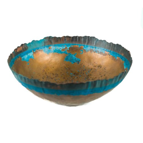 Stephanie Hopkins Etched copper bowl 28