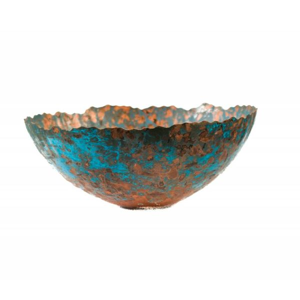 Etched copper bowl 23